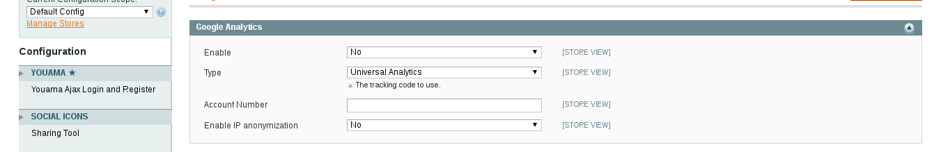 Google Analytics en Magento