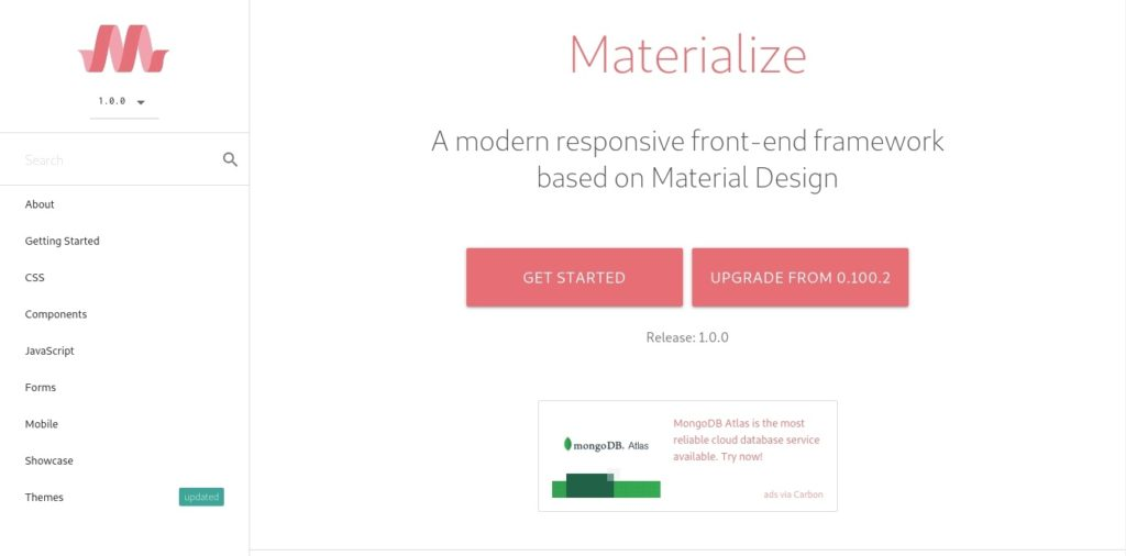 Materialize - Home